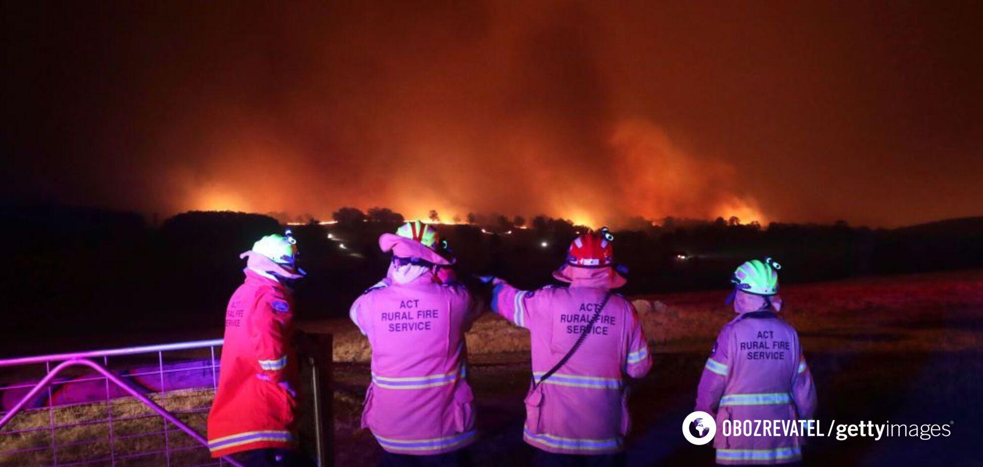 В адских пожарах в Австралии увидели 'лик дьявола': мистическое фото