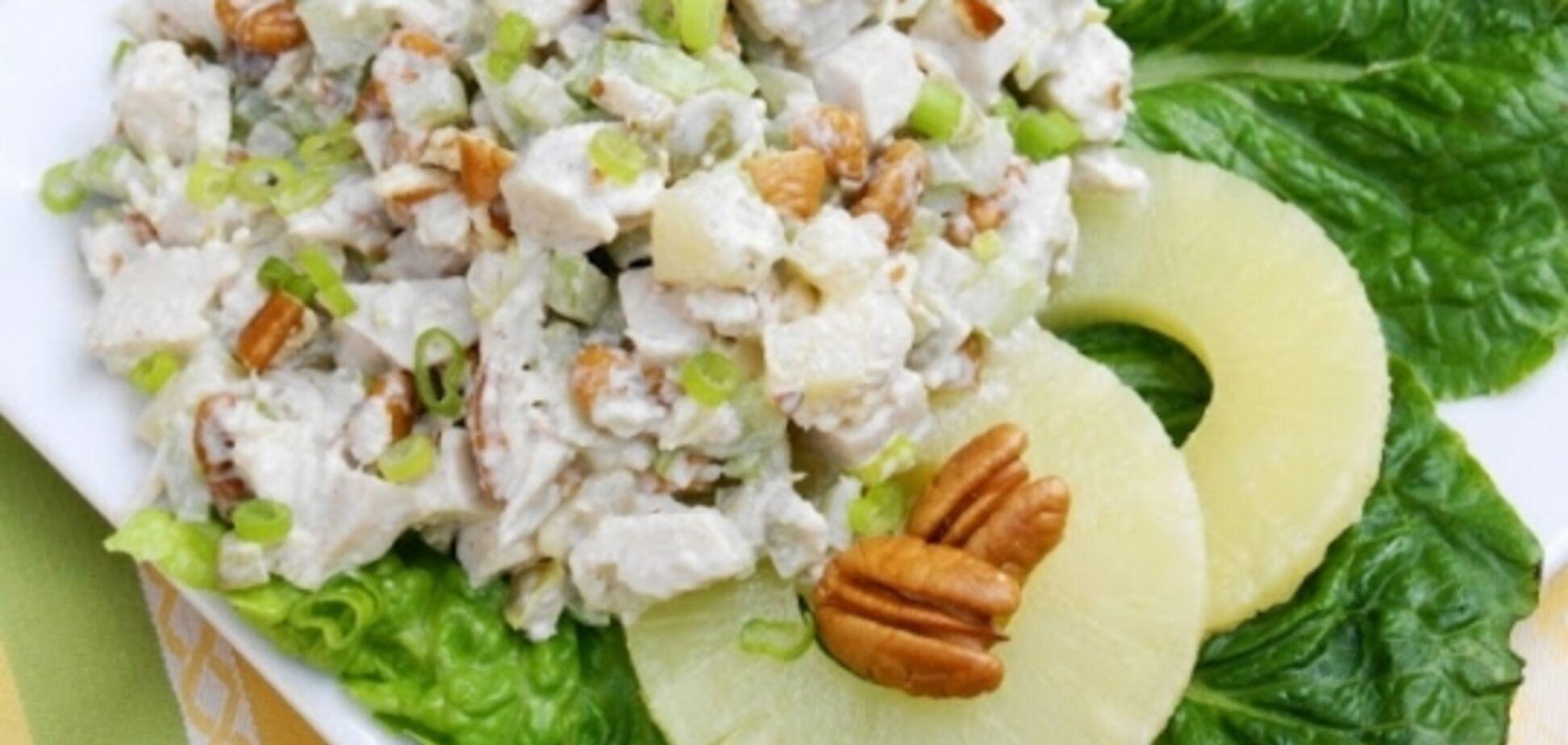 Рецепт сказочно вкусного мясного салата с ананасом