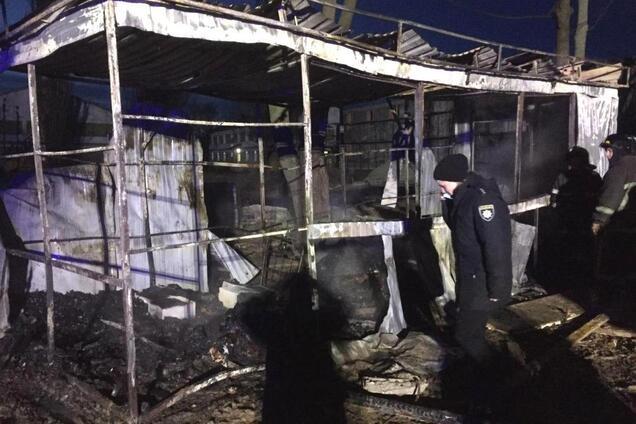 Пожар в строительном вагончике на Рождество