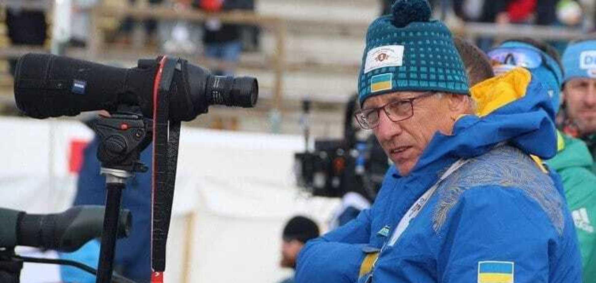 Старшего тренера сборной Украины по биатлону 'выбросили' в сугроб – видеофакт