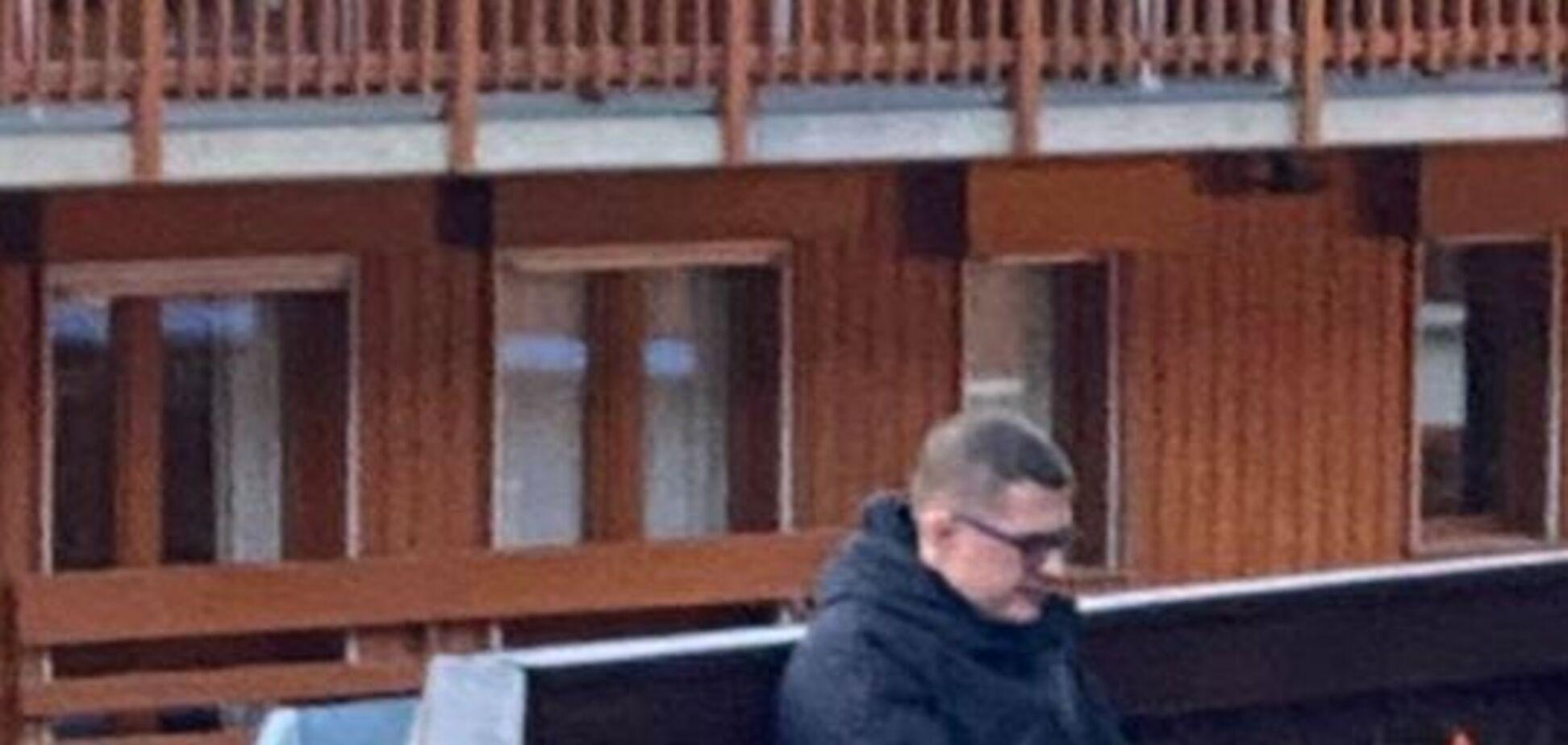Баканова засікли на відпочинку в Куршавелі
