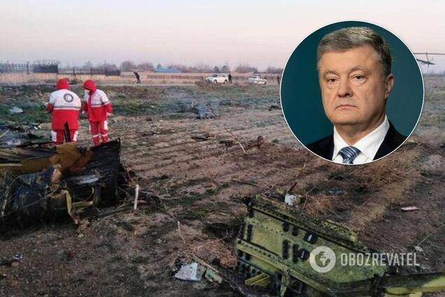 Порошенко отреагировал на трагедию с самолетом МАУ в Иране