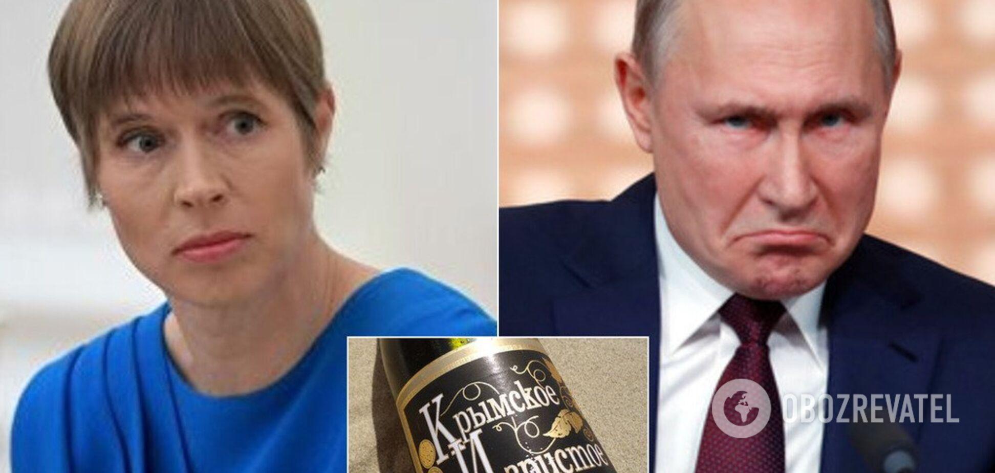 Президент Эстонии вернула России крымское шампанское «от Путина»