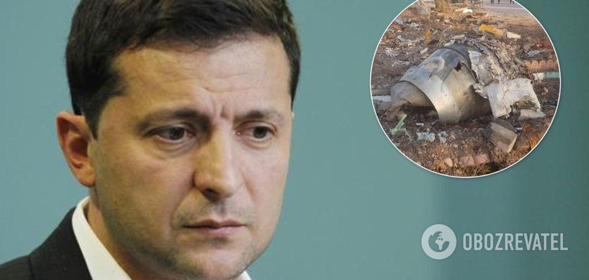 Зеленский прокомментировал крушение украинского самолета в Иране