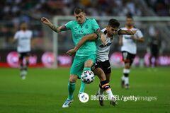 Футболист 'Реала' забил феноменальный 'сухой лист' в Суперкубке Испании