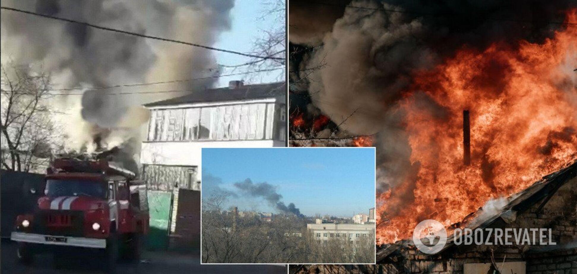 Днепр окутал густой дым из-за пожара: жуткие фото и видео