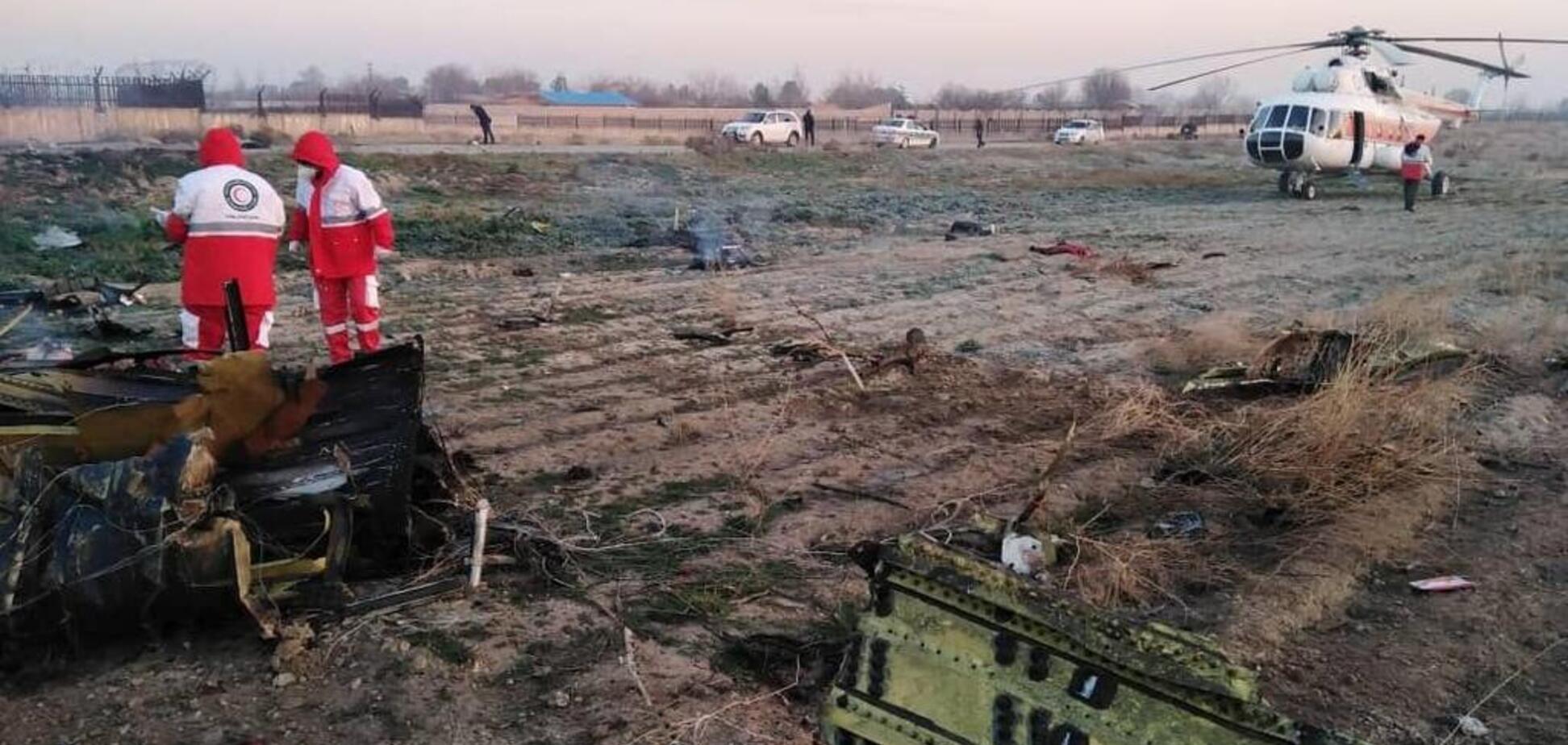 В Иране разбился украинский самолет: в сеть слили первые фото