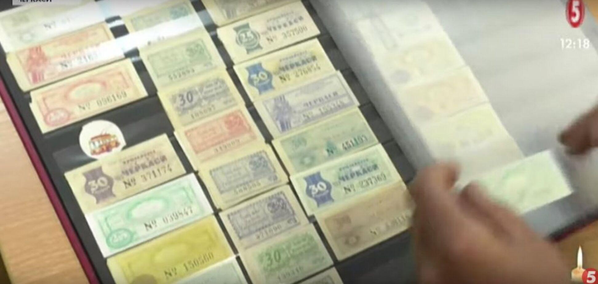 Житель Черкасс собрал уникальную коллекцию троллейбусных билетов (Фото, видео)