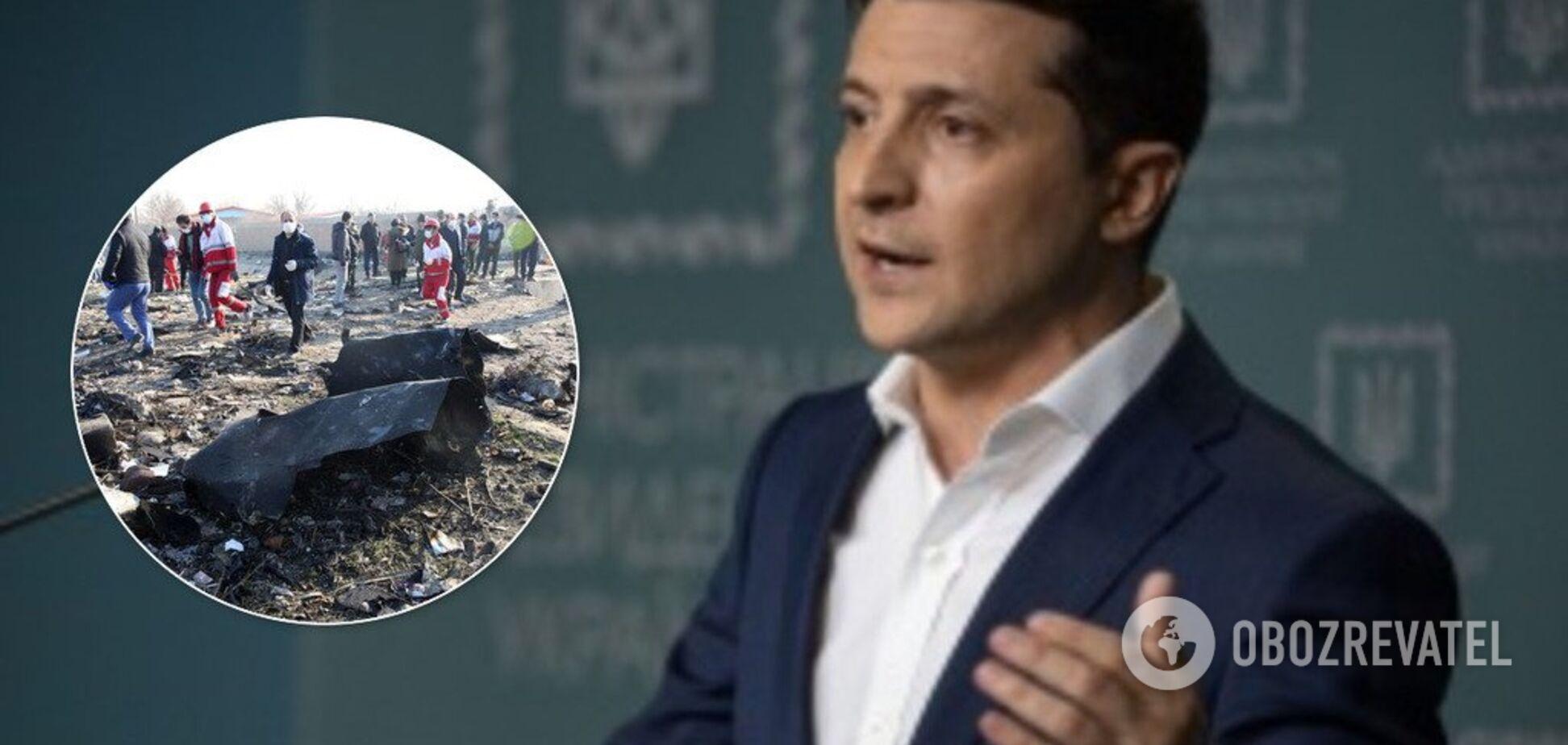 Зеленскому отчитались о катастрофе с самолетом МАУ в Иране: детали решили скрыть