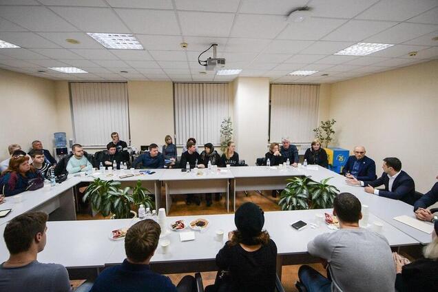 Родственники погибших украинцев