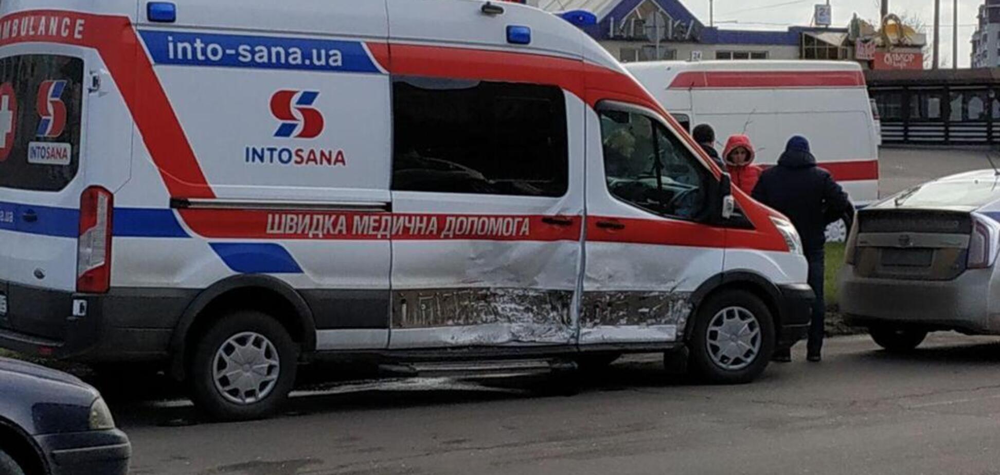 в Одессе произошло ДТП с участием автомобиля 'скорой'