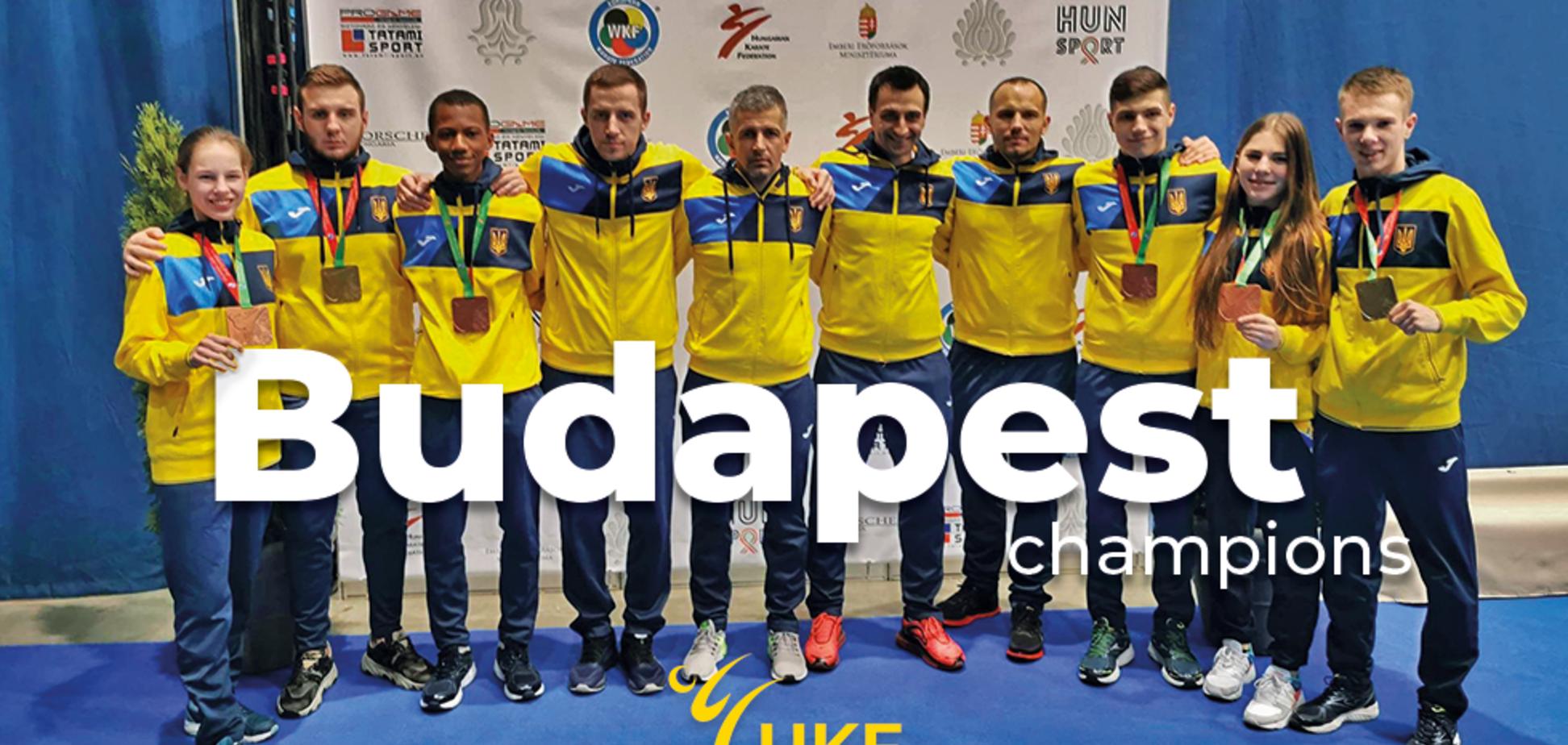 Сборная Украины по каратэ феерично выступила на молодежном Евро