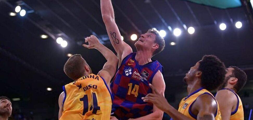 Лидер сборной Украины по баскетболу сделал яркий данк за 'Барселону'