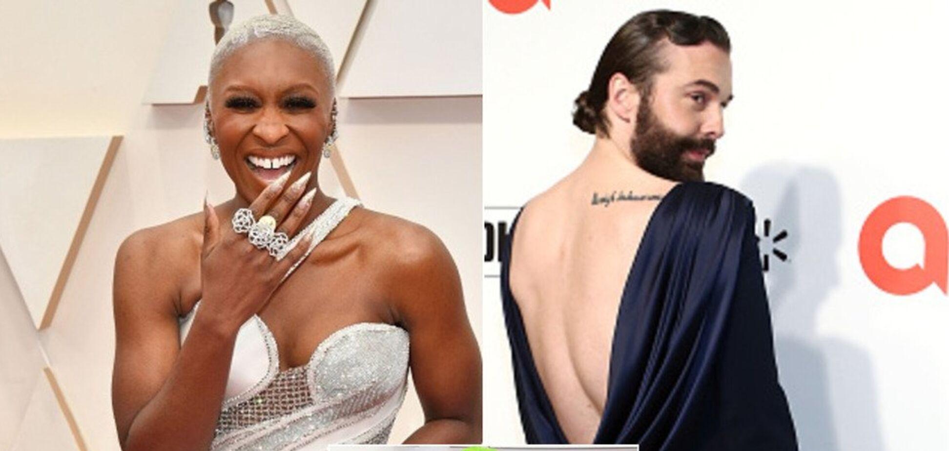 Мужчины в платьях и глубокие декольте: самые эпатажные наряды на 'Оскар-2020'. Фото