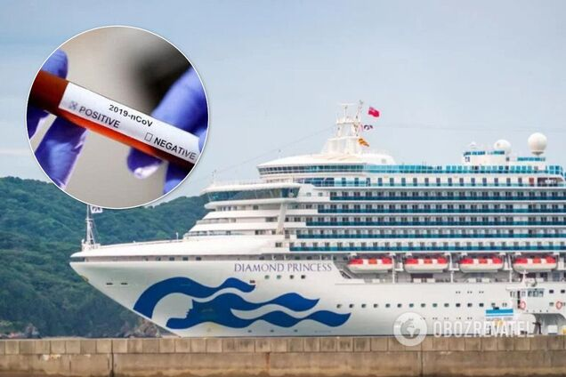 Количество зараженных коронавирусом на лайнере Diamond Princess почти удвоилось
