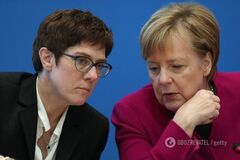 Наступниця Меркель відмовилася претендувати на пост канцлерки Німеччини