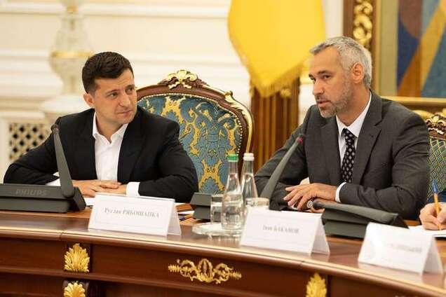 Президент України Володимир Зеленський і генпрокурор Руслан Рябошапка