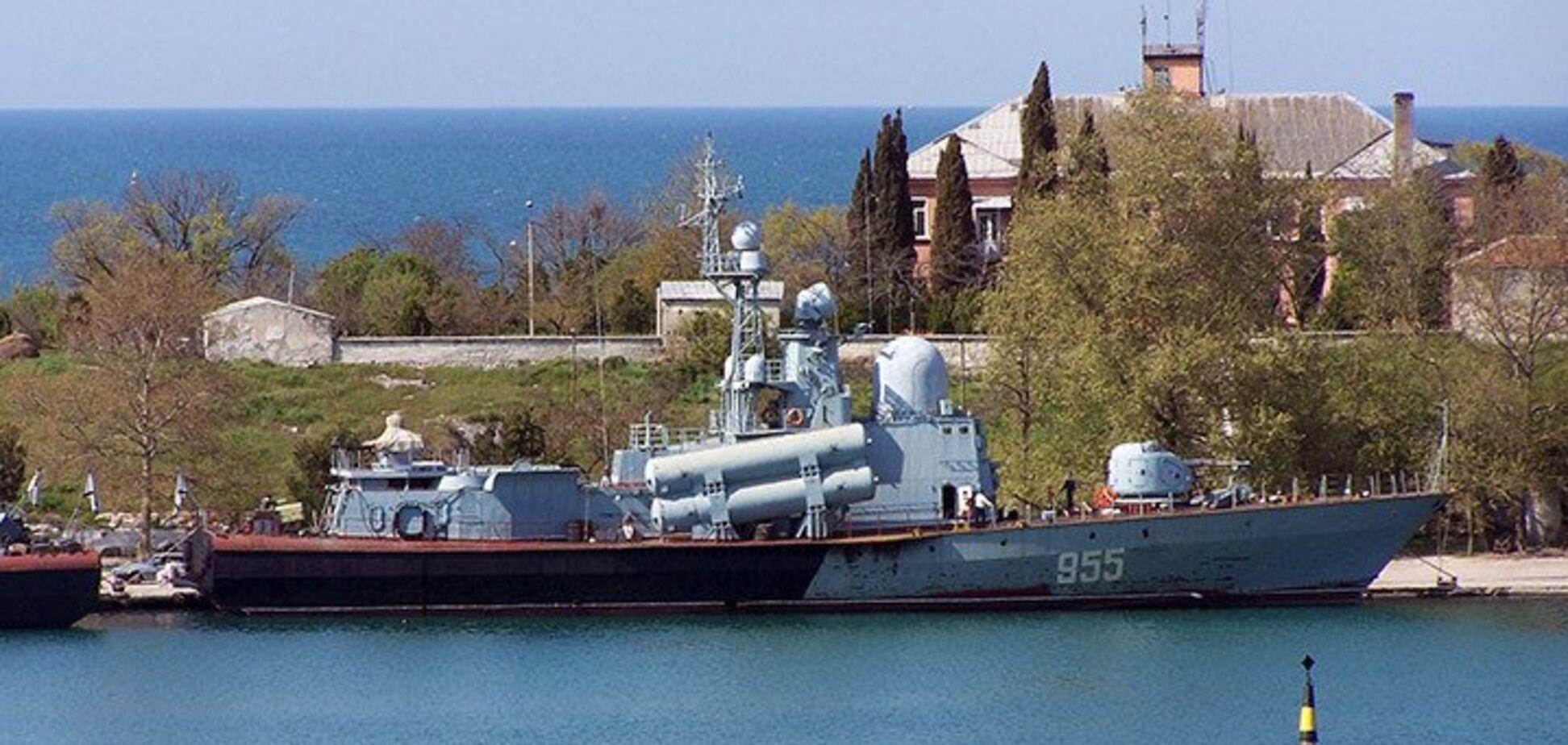 В захопленні Криму брав участь ракетний катер Росії. Фото команди