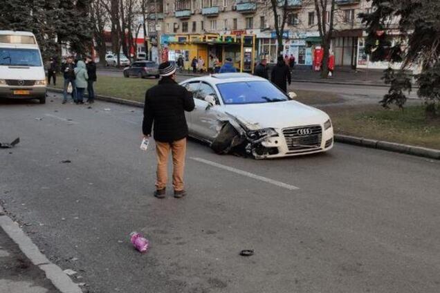 ДТП парализовало движение на проспекте Гагарина