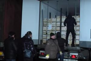 Ехали в Россию: возле Львова поймали рефрижератор с нелегалами. Видео