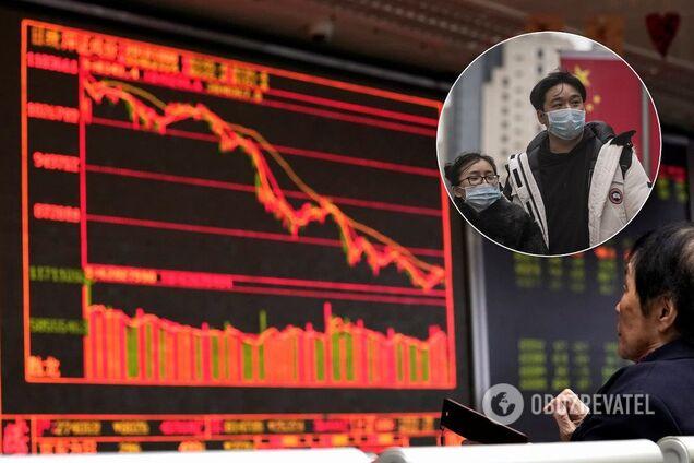 Падіння на китайських біржах