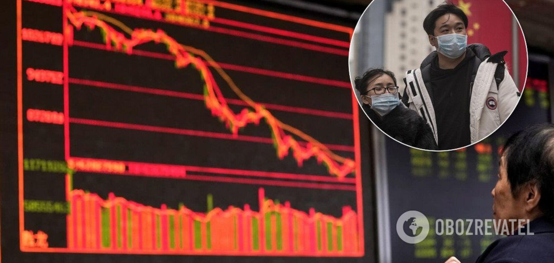 Из-за коронавируса? В Китае рухнули биржи