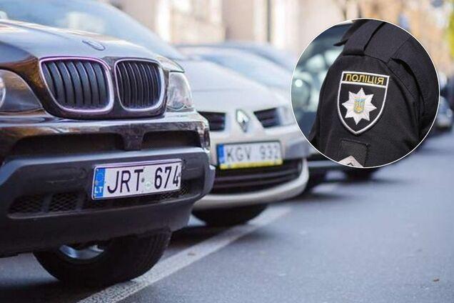 """Українські поліцейські конфіскували """"євробляху"""" і вимагали 10 тис. грн. Ілюстрація"""