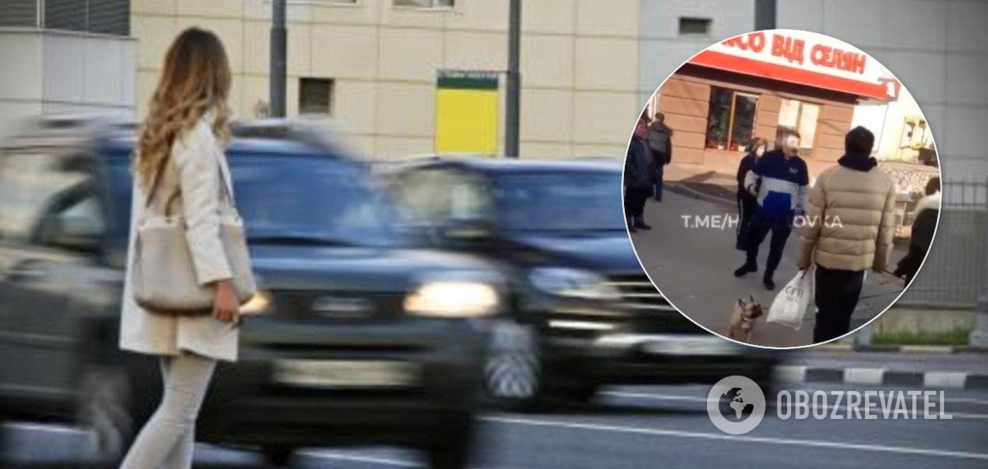 ''Похороню тебя, тварь молодая!'' В Харькове разъяренный водитель накинулся на девушку-пешехода. Видео