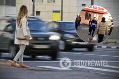 'Похороню тебя, тварь молодая!' В Харькове разъяренный водитель накинулся на девушку-пешехода. Видео