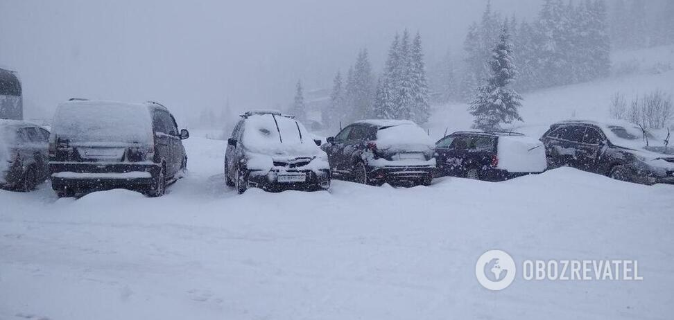 Прикарпатье завалило 1,2 м снега: детали и новые фото и видео 'апокалипсиса'