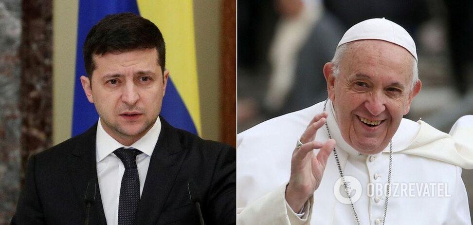 Володимир Зеленський і Папа Франциск