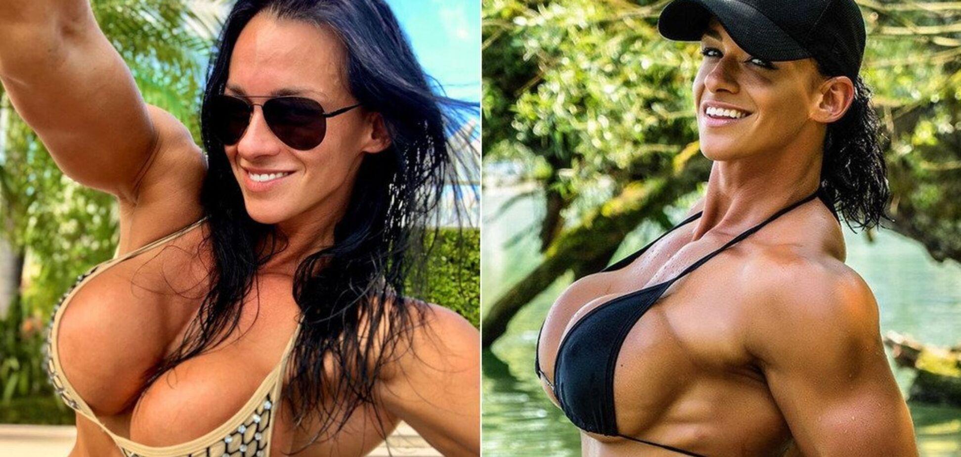 Огромная грудь известной спортсменки 'выпала' на пляже из купальника