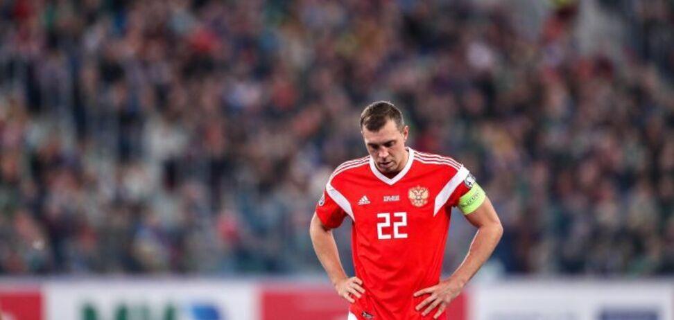 Збірна Росії з футболу та її капітан Артем Дзюба