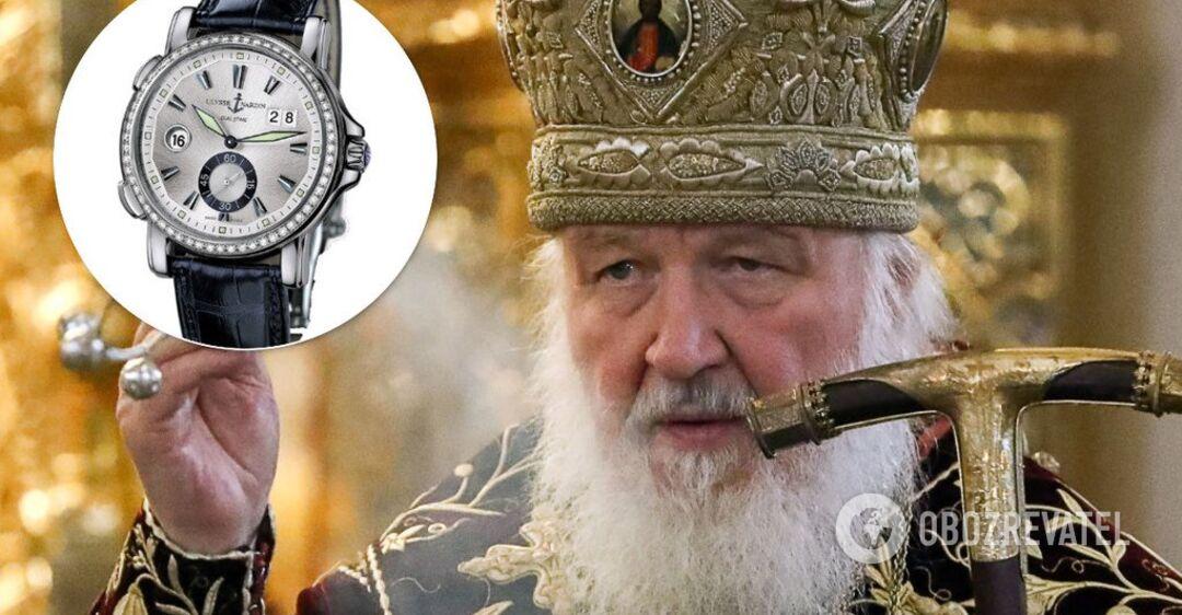 Результат пошуку зображень за запитом Патріарх Кирил засвітив годинник з діамантами за $16 тисяч. Фото