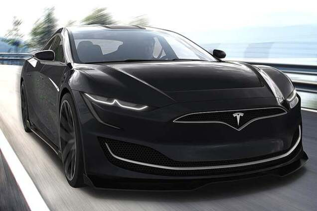 Концепт электромобиля Tesla Model S