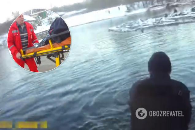 Патрульные Луганщины показали видео чудо-спасения
