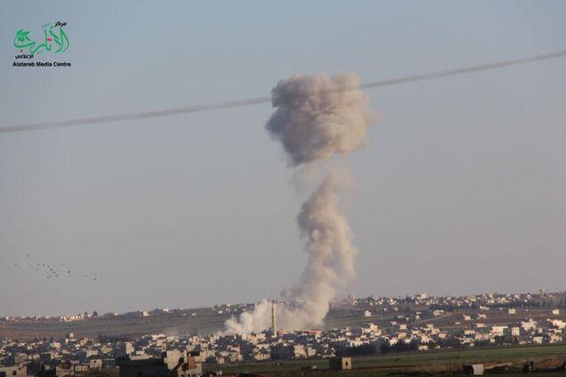 Удар по Кафр Норану в Сирии