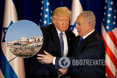 Ізраїль взявся за нову карту своїх земель із подачі Трампа: що зміниться