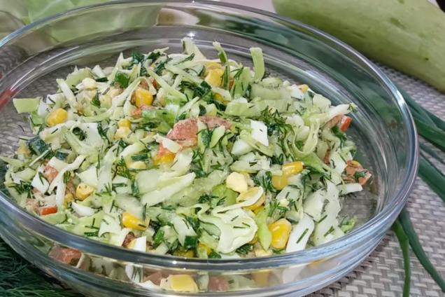 Салат зі свіжої капусти