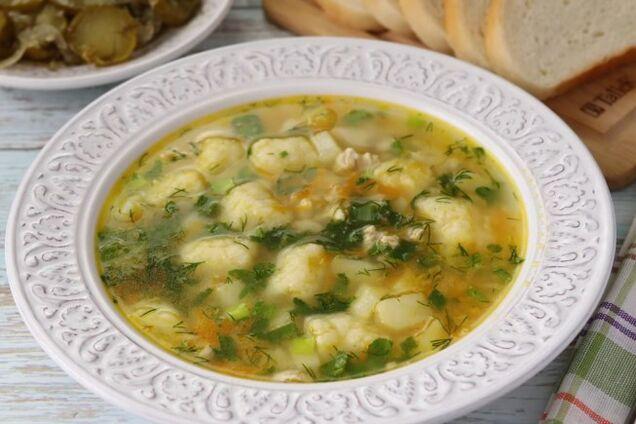 Галушки для супу