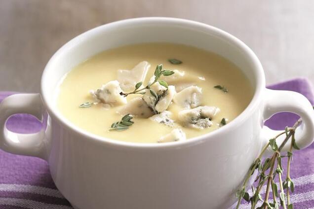 Суп із плавленим сирком