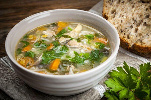 Суп із шампіньйонами