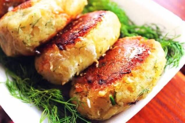 Картопляні зрази з капустою
