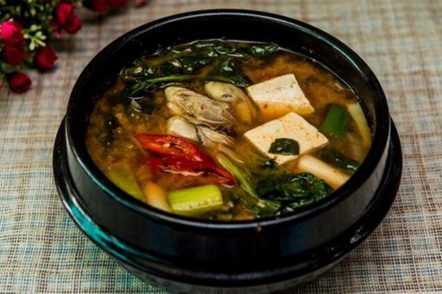 Місо суп із морепродуктами