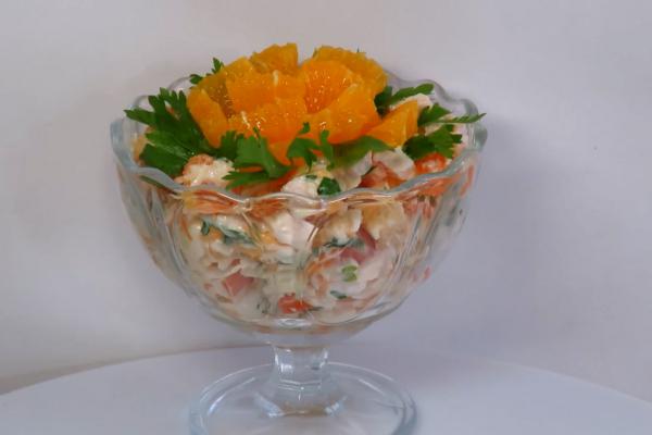 Салат с апельсинами и курицей