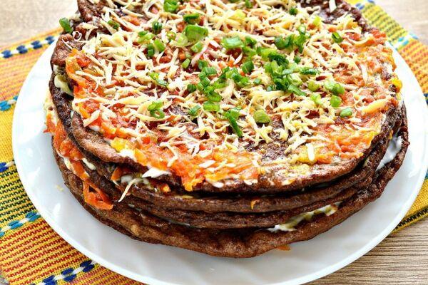 Вкусный печеночный торт