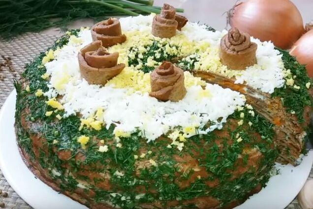 Печінковий торт класичний