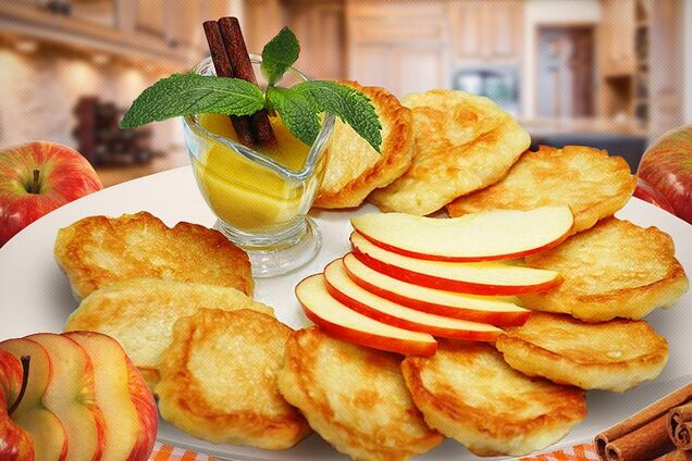 Оладки з яблоками