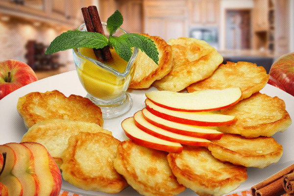 Яблучні оладки