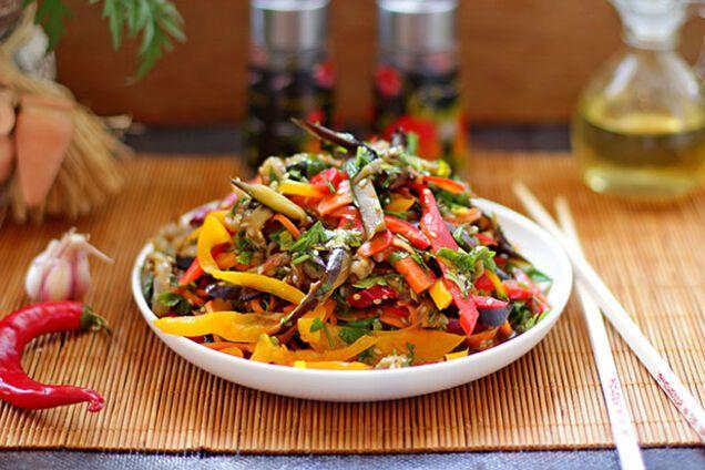 Салат із баклажанів по-корейськи